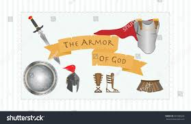christian symbol gods armor including belt stock vector 361900226