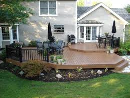 Patio And Deck Ideas Best 25 Low Deck Designs Ideas On Pinterest Low Deck Backyard
