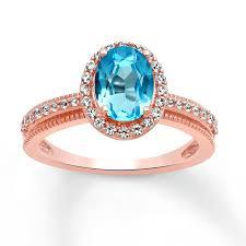 gold topaz rings images Kay blue topaz ring white topaz 10k rose gold jpg