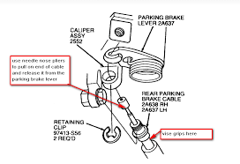 ford taurus questions how do i remove the emergency cable from