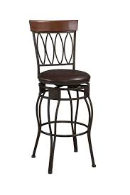 Comfortable Bar Stools Antique Metal Backrest Bar Stool In Black Lacquer Finished Using