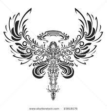 tribal angel tattoo design tattooshunt com