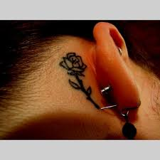 rose tattoo ideas behind the ear best tattoo design ideas