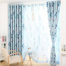 Bright Colored Curtains Elegant Embroidered Sheer Peacock Feather Curtains For Windows