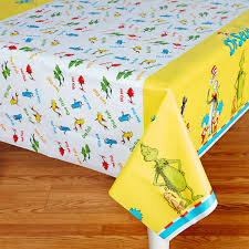 party table covers dr seuss plastic tablecover birthdayexpress