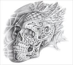 9 skull designs psd vector eps download