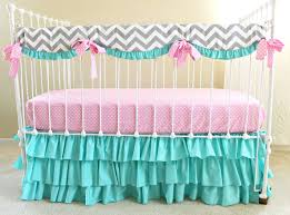 Pink Chevron Crib Bedding Simple Chevron Crib Bedding Home Inspirations Design 12 Color