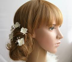 hair crystals hydrangea bridal hair pins set bridal flower hair pin wedding hair