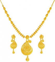 pendant necklace set images 22k gold pendant necklace set ajns61674 22 kt gold pendant jpg