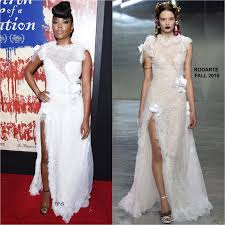 gabrielle union wedding dress gabrielle union in rodarte at the birth of a nation la premiere