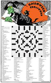 Hard Halloween Word Search Printable by Santa Ynez Valley Journal Crossword Puzzle