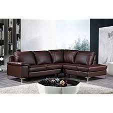 Dallas Sectional Sofa Cortesi Home Contemporary Dallas Genuine Leather