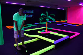 Glow In The Dark Table by Abc Newspapers New Miniature Golf Course In Blaine