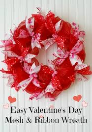 valentines day wreath easy mesh ribbon s day wreath