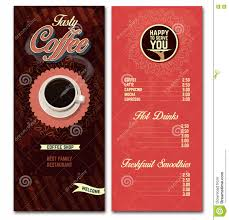 coffee shop menu template coffee shop menu design template illustration 71120112 megapixl