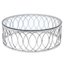 round chrome side table the best glass contemporary coffee tables