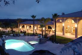a huge new luxury home at sunset u2013 real estate