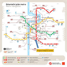 Prague Subway Map by Espacomp Meetings