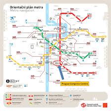 Prague Metro Map by Espacomp Meetings