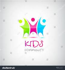 vector colorful kids logo children logo stock vector 401649220
