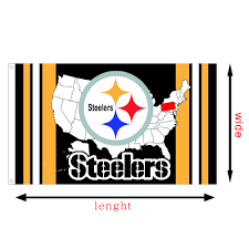 100 Pics Flags Custom Waterproof Usa Map Nfl Banners 100 Polyester Pittsburgh