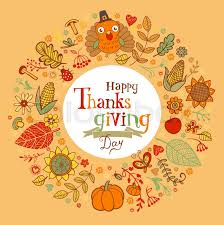thanksgiving poster or greeting card with traditional