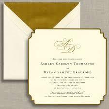 gold foil regal corners wedding invitation wedding invitations
