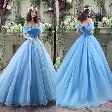 blue wedding dress designer 2017 graceful blue gown wedding dresses shoulder