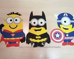 Minion Birthday Decorations Batman Minion Birthday Banner Batman Birthday Party