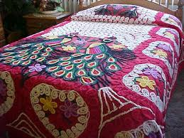 23 best peacock bedding images on chenille bedspread