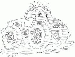 free printable monster truck coloring pages kids monster