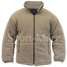 mens anti pill quilt lined padded fleece jacket thick warm winter