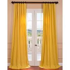yellow curtains gray walls linen cotton grommet window panel