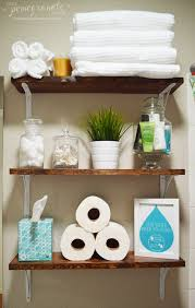 Decorating Bathroom Shelves Diy Wooden Bathroom Shelves That You Can Make Just In One Day