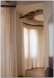 Window Curtains Rods Curved Window Curtain Rods For Arch Curtain Home Design Ideas