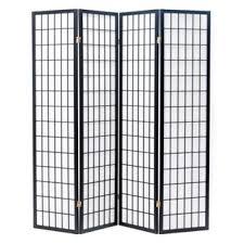 japanese room divider black 4 panels eazy goods