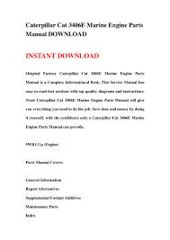 caterpillar cat 3406e marine engine parts manual download