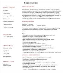 Sale Consultant Resume Sample Consultant Resume 5 Documents In Pdf Word Psd