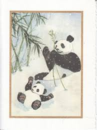 greeting card season panda