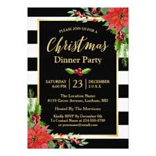 Dinner Party Invitations Holiday Dinner Party Invitations U0026 Announcements Zazzle