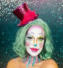 creepy halloween clown makeup tutorial video brit co