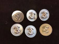 set 6 pcs vintage style 24mm set 6 pcs vintage chanel buttons white silver color cc