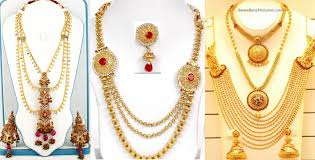 luxury gold necklace images Top 10 latest gold rani chandra haar luxury gold necklaces jpg