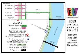 Rose Parade Route Map by 2014 Portland Pride Festival U0026 Parade Info Route Schedule