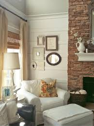 photo page hgtv cottage living room with eclectic wall collage