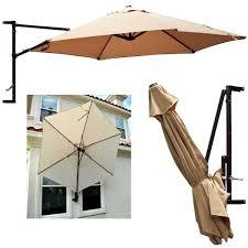 10 Patio Umbrella Wall Mount Patio Umbrellas 10 Garden Outdoor Sun Canopy