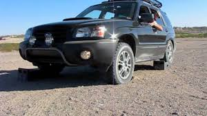 1999 subaru forester lifted subaru forester diagonal spin test youtube