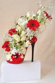 beautiful shoe design used as wedding display in different colour