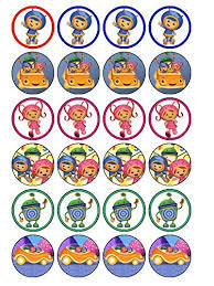team umizoomi cake topper 24 x team umizoomi 2 cupcake cake toppers co uk