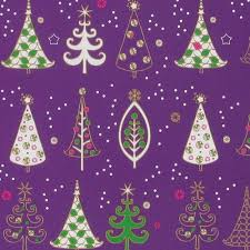 1970 purple wrapping paper gift paper tree